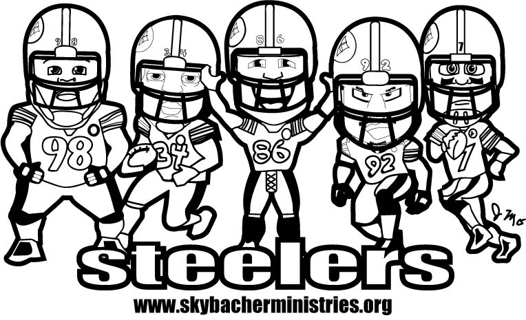 free printable steelers coloring pages - photo#6